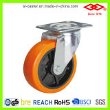 Orange PU Swivel Plate Casters (P101-36D075X25)