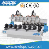 8 Axis W2030atc 3D Sculpture CNC Machine, Atc CNC Router Woodworking CNC Router