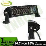 96W 16.7inch CREE LED Wrangler Light Bar with Hi/Low Beam