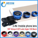 3 in 1 Wide-Angle Micro Macro Fish Eye Lens Detachable for Smartphone Camera