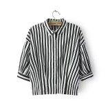Fashion Popular Hot Sale Women Stripe Shirt