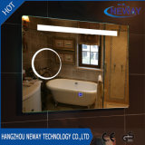 New Sliver Makeup LED Bathroom Smart Mirror, Illuminated Beveled Wall Mirror, Dressing Glass Light Mirror