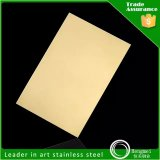 Gold Mirror Finished Stainless Steel Sheet with Factory Price