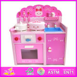 2014 New Wooden Kitchen Toy for Kids, Popular Role Play Wooden Kitchen Set for Children, Hot Sale Wooden Kitchen for Baby W10c057