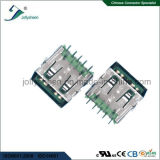 Big Current 5A Right Angle USB3.0 a/F 9p No Curling with Green Insulator