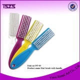 Nail Dust Cleaning Brush with Plastic Handle