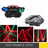 Mini 9PCS Spider Beam LED Moving Head Light 4in1