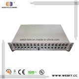 10/100m or 10/100/1000m Media Converters with 16 Slots Chassis