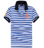 2015 Embroidering Stripe Polo Shirts for Men