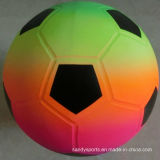 PVC Toys Inflatable Color Printing Rainbow Kicker Toy Soccerball