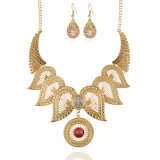 China Jewelry Wholesale Pure Gold Plated Big Costume Jewelry Sets