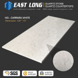 Artificial Carrara Quartz Stone for Kitchen Countertop/Slabn with Solid Surface Polished/SGS/Ce (anti-corrosion)