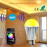7W Wireless RGB/RGBW LED WiFi/Blue Teeth Bulb with Controller