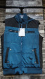 Blue Fashion Young Vest Jacket Man Waistcoat Polyester