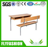 Wooden Furniture School Table and Bench (SF-09D)
