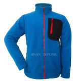 Men Full Zipper Microfleece Bonded-Fleece Leisure Jacket Sports Wear