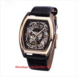 Fashionable Popular Automatic Men′s Watches with Genuine Leather Strap Fs650