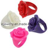 Colorful Resin Rose Rings for Women