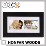Modern Mat Black Wooden Picture Photo Frame Display 2 Photos