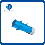 Cee 16A 230V Blue 3 Pins Industrial Panel Mounted Plug