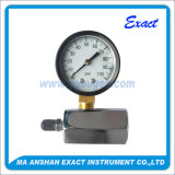 Gas Test Pressure Gauge-Black Steel Type Manometer-Chromed Plated Test Body
