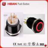 19mm Black LED Stainless Steel Electrical Momentary Switch