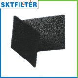 Polyester Filter Media Impregnated with Activated Carbon, Black