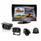 CCTV System with Digital Color LCD Quad Monitor and Super Wide Viewing Camera