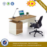 Metal Leg Cupboard Attached Wooden Computer Office Desk (HX-5N101)