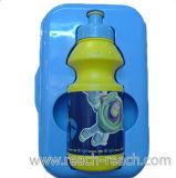 400ml Children Plastic Water Bottle with Lunch Box (R-1097)