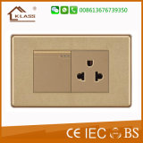 Us Standard 1gang Switch+Thailand Socket for Home