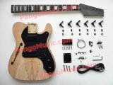 Pango Tele Style DIY Guitar Kit / DIY Tele Guitar with F Hole, Spalted Maple (PTL-001K)