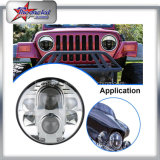 High Power 80W LED Headlight for Jeep Wrangler Hummer Harley Motorcycle High Low Beam Super Bright Jeep Headlight