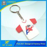 Professional Custom High Quality Sports Tshirt Key Chain/Promotional PVC Rubber Key Ring/Tag (XF-KC-P17)