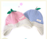 Polar Fleece Earflaps Fruit Hat with Leaf (DH-PB-451)