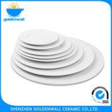 Ceramic Flat Plate and Saucer for Restaurent