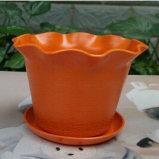 Assorted Colors Biodegradable Bamboo Fiber Flower Pots Garden Flower Pots (BC-FP1029)