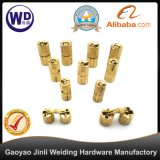 CH-1205 Cylindrical Brass Cabinet Concealed Hinge