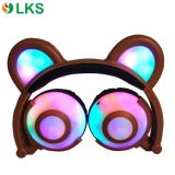 Glowing Colorful Lights Fold Design Stereo Cute Headphones