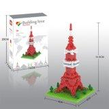 14889403-Micro Block Kit Buildings Series Blocks Set Creative Educational DIY Toy 310PCS - Tokyo Tower