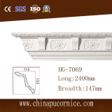 15cm Large Face Factory Price Carving PU Crown Cornice Moulding for Interior Ceiling Decoration