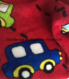 Flannel Fleece 100% Polyester Fabric with Carton Print