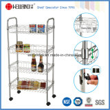 Multi-Functional Metal Kitchen Wire Basket Trolley Rack