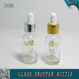 20ml Empty Transparent Cosmetic Glass Dropper Bottle for Hyaluronic Acid