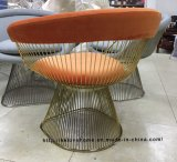 Metal Dining Restaurant Cushion Outdoor Steel Wire Chair