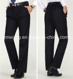 Men's Black Wool Trousers