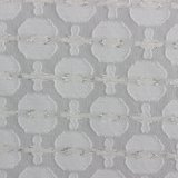 Matelic Clipped Spot Gingham Polyester Fabric for Sale