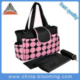 Round DOT Fashion Baby Diaper Waterproof Nappy Mommy Bag for Stroller