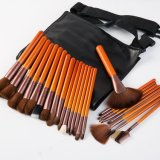25PCS Cosmetics Makeup Brush Set with Orange Wooden Handle