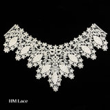 Vogue African Bridal Lace Cuff Collar Trims Fabric Stretch Lace X019